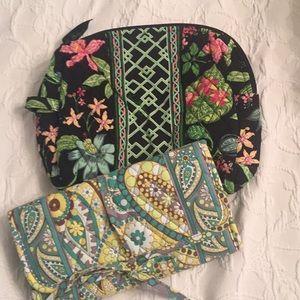 Two Vera Bradley Travel Bags, Jewelry Cosmetics